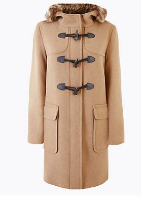 Παλτό με κουκούλα Marks Spencer